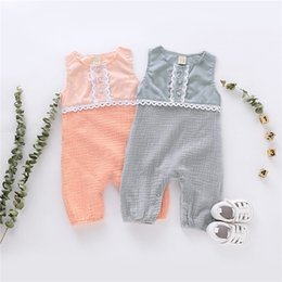 $enCountryForm.capitalKeyWord Australia - Fall INS New Arrivals Infant Baby Girls Rompers Organic Cotton Lace Sleeveless Soulder Buttons Round Collar Newborn Bodysuits for 3M-18M