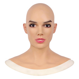 realistic human masks 2021 - Artificial Human Skin Face Realistic Crossdresser Transgender Cosplay Disfigurement Repair Disguise Self Silicone Halloween Mask Face