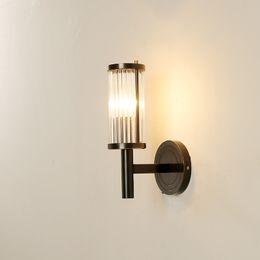 $enCountryForm.capitalKeyWord Australia - Nordic new living room copper American aisle modern minimalist bedroom bedside brass LED creative wall lamp led wall light