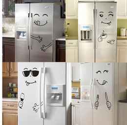 new living room furniture styles 2021 - New 4 Styles Smile Face Wall Sticker Happy Delicious Face Fridge Stickers Yummy for Food Furniture Decoration Art Poster
