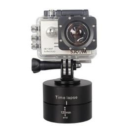 stabilizer gopro 2019 - 360 Degrees Rotating Tripod Head Base 120 Min Time Lapse Stabilizer For Gopro 6 5 4 3+ 3 Sjcam Xiaoyi Sport Cameras