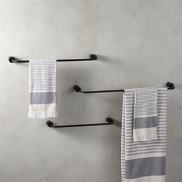As barras de toalha de alumínio pretas do banheiro da cremalheira de toalha vestem acessórios do banho da cremalheira venda por atacado