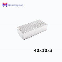 $enCountryForm.capitalKeyWord Australia - 2019 imanes hot sale 10pcs 40x 10x 3 mm Super Strong Rare Earth Permanet Magnet Powerful Block Neodymium Magnets NdFeB 40*10*3 40x10x3