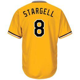 alternate jerseys 2019 - Men's #8 Stargell Majestic Gold Alternate Cool Base Player Jersey discount alternate jerseys
