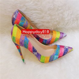 pointy flats shoes 2019 - Free shipping Fashion women Casual Designer lady multi color canvas new pointy toe flats pumps shoes praty shoes bride s