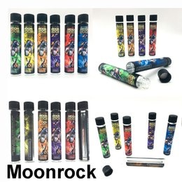 Sticker labelS roll online shopping - Empty Moonrock Pre roll Tubes DANKWOOD Glass Tube Plastic Cap mm Dry Herb Herbal Sticker Package Pre roll Stickers Label