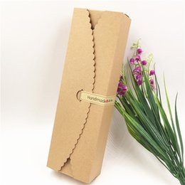 $enCountryForm.capitalKeyWord Australia - 50Pcs Lot Long Paper Box With Rectangular Handmade Sticker For Decoration Dried Petals Scented Tea Perfume Lipsticks Tie Case