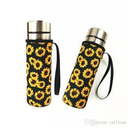 $enCountryForm.capitalKeyWord Australia - DHL Wholesale Sunflower Neoprene Water Bottle Sleeve Insulated Holder Bag Portable Drink Bottle Cooler Carrier Pouch for Outdoor Sports