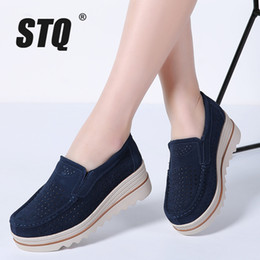 $enCountryForm.capitalKeyWord NZ - Stq 2019 Spring Women Flats Shoes Platform Sneakers Shoes Leather Suede Casual Shoes Slip On Flats Heels Creepers Moccasins 3088 Y190704