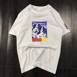 bdbc0c61162 Tres modelos de camiseta de verano con la letra Snow Mountain Hombres Tops  Ropa Cuello redondo Casual Mujer Camisa de manga corta M-XXL