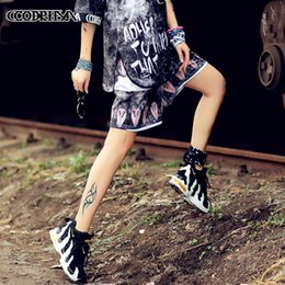 $enCountryForm.capitalKeyWord Australia - Hiphop Shorts Can Form A Complete Set Dress Trend Suit-dress Will Code Number Code Printing Ladies Dresses Dresses For Womens