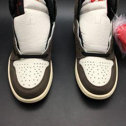 Ingrosso Travis Scott x Air 1 High OG CD4487-100 1s I Kicks Men Basketball Scarpe sportive Sneakers Scarpe da ginnastica di alta qualità con scatola originale US7-13