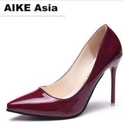 high style shoes NZ - 2019 Women's shoes in Spring and Autumn with New style High heel fine heel pointed end @04
