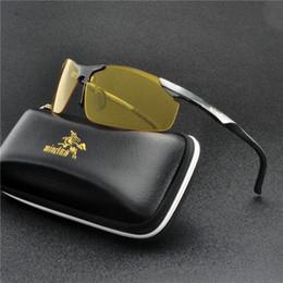 sun vision 2019 - 2019 NEW Night Vision Glasses for Driving Goggles Anti-glare Yellow Lens Car Drivers Sun glasses for Men Women Eyeglasse
