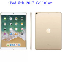 "ipad retina Australia - Original Refurbished Apple iPad 2017 wifi+Celluar iPad 5th Touch ID 9.7"" Retina Display IOS A9 refurbished Tablet Wholesale DHL"