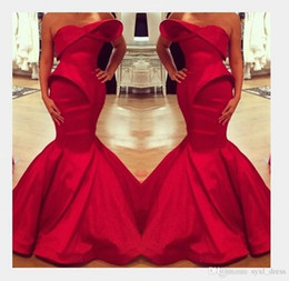 $enCountryForm.capitalKeyWord Australia - 2018 Saudi Arabian Design Red Mermaid Prom Dresses Floor Length Evening Gowns Custom Made Formal Dress Party Wear