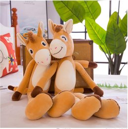 Discount naughty doll - 1pc 65cm 85cm cartoon long leg naughty donkey funny zoo animal plush doll creative stuffed toy