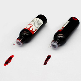 fake teeth halloween NZ - 30ml Halloween Cos Ultra-Realistic Fake Blood Simulation Of Human Vampire Human Teeth Hematopoietic Props Vomiting Edible Pulp
