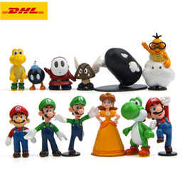 $enCountryForm.capitalKeyWord Australia - 10 Pcs set Q Version Super Mario Luigi Yoshi Peach Daisy Birthday Present Creative Plastic Action Collectible Model Toy 7CM OPP G145