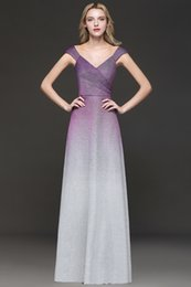 IllusIon ombre dress online shopping - Newest Ombre Deflective Women Dresses Evening Prom Gowns Cheap Longue de Robe Women Occasion Party Gowns CPS1246