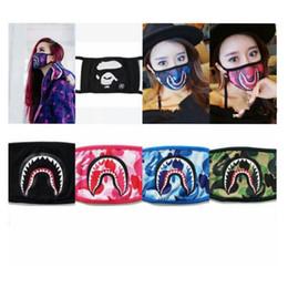 Tubarão Camuflagem homem macaco Máscaras Hip Hop Moda Metade do Rosto Boca Máscara Hip Hop Moda Metade da Face da Face Máscara Facial 8 cores GGA1805 venda por atacado