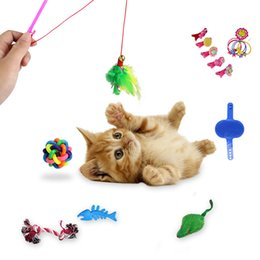 Value Packs Australia - 16PPC Set Toys Variety Pack Cats Funny Mouse Balls Gift Value Feather Sets For Small Cat Pet Supplies Toy Set New