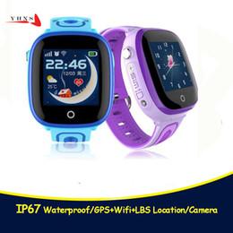 $enCountryForm.capitalKeyWord Australia - 2018 New IP67 Waterproof Smart Safe GPS LBS Location Touch Screen SOS Call Monitor Wristwatch Finder Tracker Watch for Kid Child