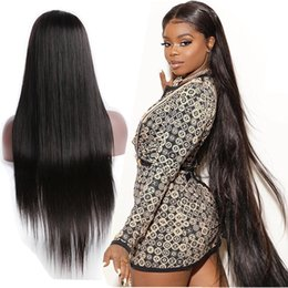 $enCountryForm.capitalKeyWord NZ - Peruvian Virgin Hair Full Lace Wig 8-34'' Long Straight Wigs Pre Plucked With Baby Hair 210% Density Straight Brazilian Human Hair Wigs
