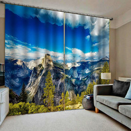 Discount decor curtains living room - landscape nature scenery curtains for bedroom living room Drapes Living room Bedroom Decor 2 Panels HooksWindow Curtains