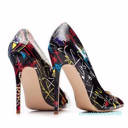 womens flowered heels Australia - Pointed Toes Shallow Mouth Bold Fancy High Heels Shoes Sandals Party Wear European And American Big Yards for Womens Plus Size 35-42 c30