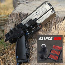 Sembo 704.301 disparo Technic señal pistola del arma de fuego las balas pueden Building Blocks Ladrillos regalos juguetes para los niños en venta