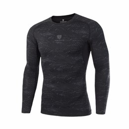 men slimming shirt compression Australia - Plus Size Running T shirts Long Sleeve Compression Shirt Men Slim Quick Dry Elastic Training Sport Shirts Breathable Clothing