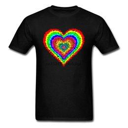 TshirT cusTom prinTing online shopping - Artistic Tie Dye Love Heart Personalized T Shirts Women Men Fashion Love Day Best Gift Nice Tshirt On Sale Custom Streetwear Tee