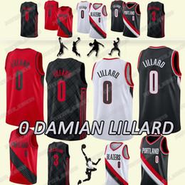 2637611c51b3 Damian 0 Lillard Blazer jersey CJ 3 McCollum jerseys 2019 men new top  quality popular Basketball T shirt