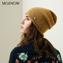 Yellow Beanies Australia - Autumn Women Beanie Hats Female 2018 New Winter Knitted Slouchy Caps Wool Warm Beanies For Girl Candy Color Young Stylish Hat Y18110503