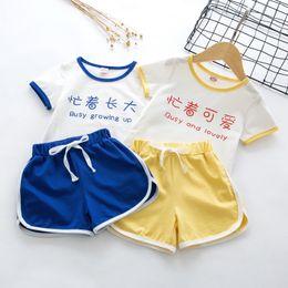 $enCountryForm.capitalKeyWord NZ - 1-6year Babys Summer Shirt Suit Children's Short Sleeve Suit Korean Cotton Cute Tee Suit