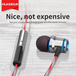 Phone Types Australia - New Type of Ear-in Type P21 Dual-color Metal Earphone Heavy Low-in Ear Type Mobile Phone Wire-controlled Fever HIFI Cable Earphone