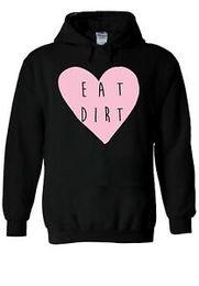 Heart sweatsHirt online shopping - Eat Dirt Funny Heart Pink Tumblr Hoodie Sweatshirt Jumper Men Women Unisex