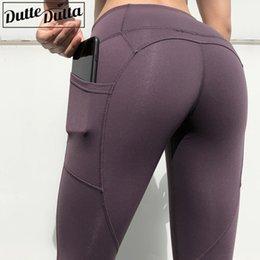 $enCountryForm.capitalKeyWord Australia - Women Sport Leggings Plus Size Yoga Pants With Pockets Jogging Workout Running Leggings Stretch Gym Tights Fitness Legging