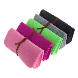 Shoes Belts UK - Felt Sunglasses Bags Cases Portable Soft Glasses Package Accessories Belt