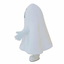 Chinese  Halloween White Ghost Mascot Costume Cartoon specter Anime theme character Christmas Carnival Party Fancy Costumes Adult Outfit manufacturers