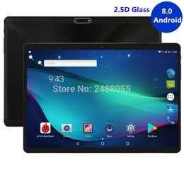 Best Android Inch Tablet Australia - Best tablets 2.5D Glass 10 inch tablet Android 8.0 Octa Core 4GB RAM 32GB ROM 8 Cores 1280x800 IPS Screen Tablets 10.1 + Gift