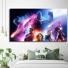 Marvel Canvas Prints Australia - Marvel Super Heroes Avengers Infinity War Painting Canvas Posters Prints Wall Art Painting Decorative Picture Modern Home Decoration