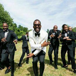 $enCountryForm.capitalKeyWord Australia - Ivory Shawl Lapel Men Suits for Wedding Bridegroom Custom Groom Wear Casual Tuxedo Best Man Blazer Slim Fit Jacket Pants 2Piece Prom Costume