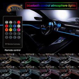 $enCountryForm.capitalKeyWord Australia - Remote control 5M Flexible Neon Light EL Wire Rope Tube Car decor 12V lighter LED Lamp Strip thread sticker decals tags