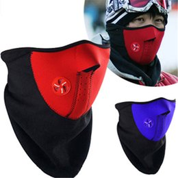 NeopreNe face mask ski sNowboard online shopping - Motorcycle Half Face Mask Winter Warm Outdoor Sport Ski Mask Ride Bike Cap CS Neoprene Bicycle Cycling Snowboard Neck Veil