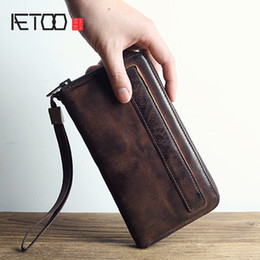 $enCountryForm.capitalKeyWord Australia - BJYL Men wallet male leather is the brand hand bag long section hand bag package retro sheepskin zipper student Vintage