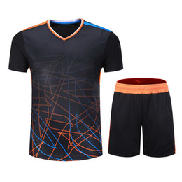 $enCountryForm.capitalKeyWord UK - Men's Women's Table Tennis Team Training Gymnasium Running T-shirt Running Sportswear Fast-drying Breathable Badminton Shirt + Shorts