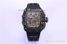 $enCountryForm.capitalKeyWord Australia - KV New Luxury 11-03 Watch Black NTPT Carbon Fibers Swiss 7750 Automatic Chronograph Sapphire Oversize Date Rubber Strap Luminous Mens Watch