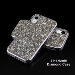 Rhinestone Cases Lg Australia - Hybrid 2 in 1 Diamond Rhinestone Phone Case Cover For iPhone 8 XR XS MAX Samsung galaxy S10 S10 plus S10 lite
